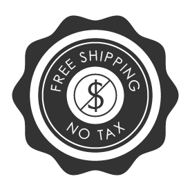 free shipping, no tax!